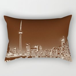 Downtown Toronto Vintage Wall paper Rectangular Pillow