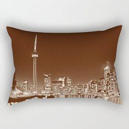 Downtown Toronto Vintage Wall paper Rectangular Pillow
