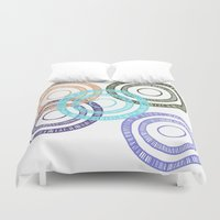 bianca green Duvet Covers featuring Bianca Circle by Ellie And Ada