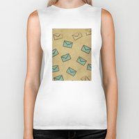 letter Biker Tanks featuring Letter by sinonelineman