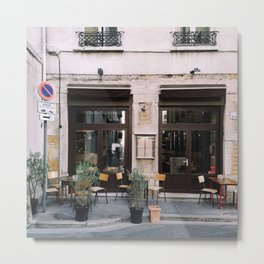 Cafe in Lyon, France Metal Print