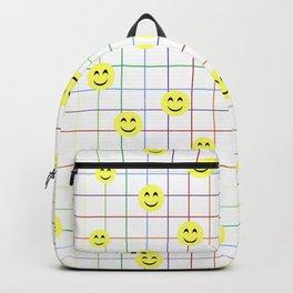 Colorful Smiley Emoji 3 - white Backpack