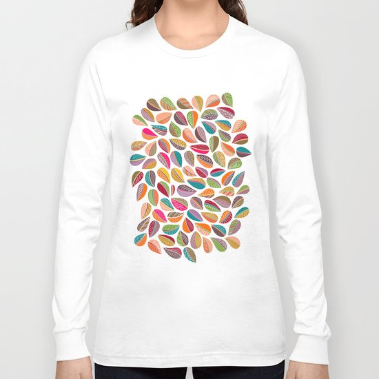 Leaf Colorful Long Sleeve T-shirt