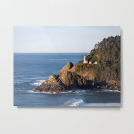 Hecenta Head Lighthouse Metal Print