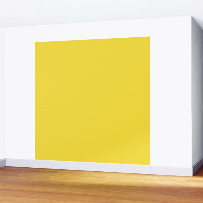 Daffodil (Yellow) Color Wall Mural by nicnak85 | Society6