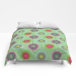transparent floral pattern 4 Comforters