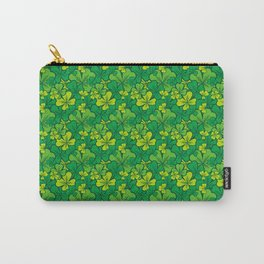 Lucky green pattern with shamrocks Carry-All Pouch