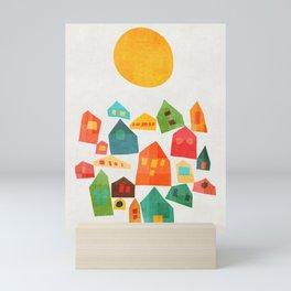 Looking at the same sun Mini Art Print