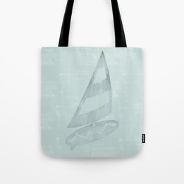 Gone Surfing in Mint Watercolor Tote Bag