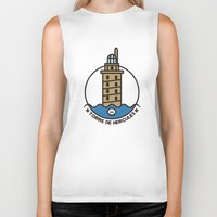 hercules Biker Tanks featuring Torre de Hercules by DamianVF