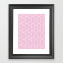 Honeycomb Light Pink #326 Framed Art Print