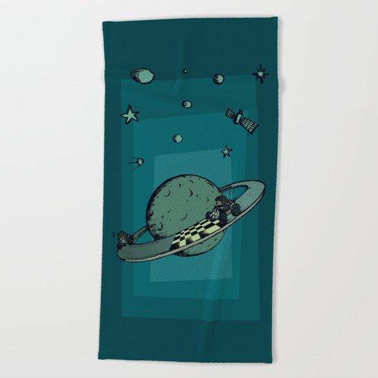 Space race Beach Towel