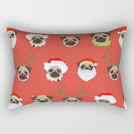 Xmas Pugs Rectangular Pillow