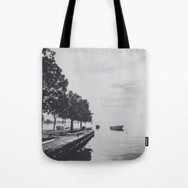 Boats on the lake Tote Bag