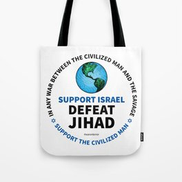 Support Israel, Defeat Jihad Tote Bag