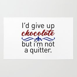 Don't Quit Keep Calm Eat Chocolate Design Rug