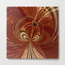 Tribal Swirl Metal Print