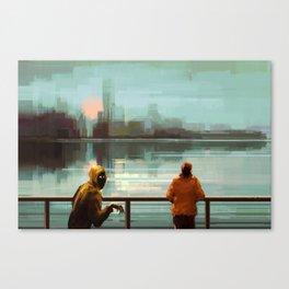 A blind date Canvas Print