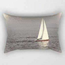 Sailing boat on the lake Rectangular Pillow