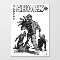 zombies Canvas Prints featuring Zombies by Christian G. Marra