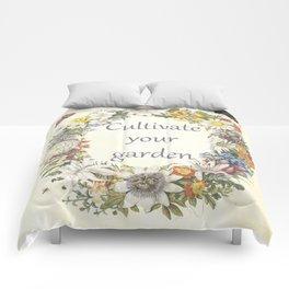 cultivate your garden (light) Comforters