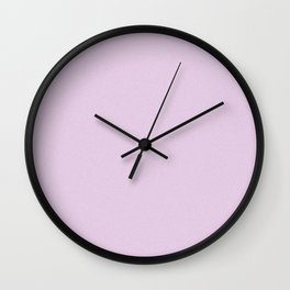 Pastel Violet Saturated Pixel Dust Wall Clock