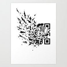 Break a (QR) Code Art Print