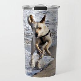 Flying Dog of Catania Beach in Sicily Travel Mug