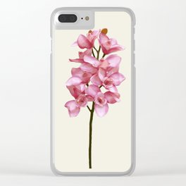 Three tones orchids Clear iPhone Case