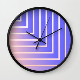 Square Off (Millennial Pink and Blue) Wall Clock