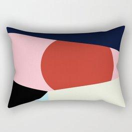 Circle Series - Red Circle No. 1 Rectangular Pillow