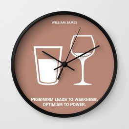 Lab No. 4 - Optimism To Power William James Quotes Poster Wall Clock