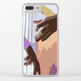 Jazz Illustration Clear iPhone Case