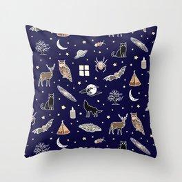 Night pattern Throw Pillow