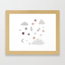 space galaxy clouds Framed Art Print