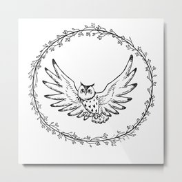 Hibou Metal Print