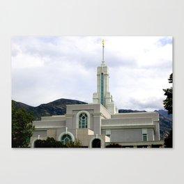 LDS Timpanogos Temple Canvas Print