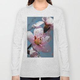 Peach Blossom Blue Sky Long Sleeve T-shirt