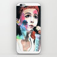 hayley williams iPhone & iPod Skins featuring Hayley Williams by alice kasper
