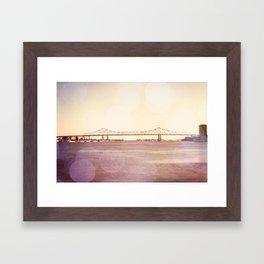 Greater New Orleans Bridge over the Mississippi Framed Art Print