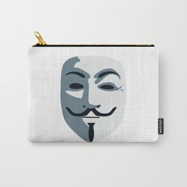 Anonymous Mask #society6 #decor #buyart #artprint Carry-All Pouch