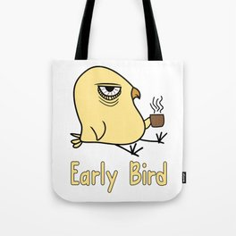 Early Bird Coffee Lover Ornithologist Gift Tote Bag