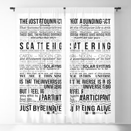 Neil DeGrasse Tyson Science Manifesto Blackout Curtain