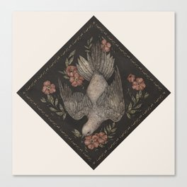 Dove and Flowers Canvas Print