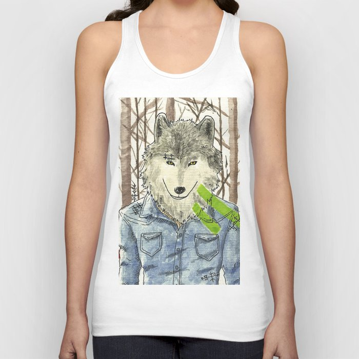 The Wolf Unisex Tank Top