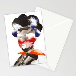 Dark Skinned Fashion Soldier Stationery Cards