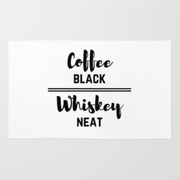 Coffee Black Whiskey Neat Rug