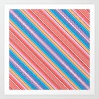 Frida Blanket Stripe in Tamale Art Print