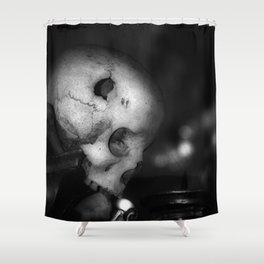 Kostnice Beinhaus Skull I Shower Curtain