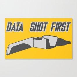 Data Shot First Canvas Print